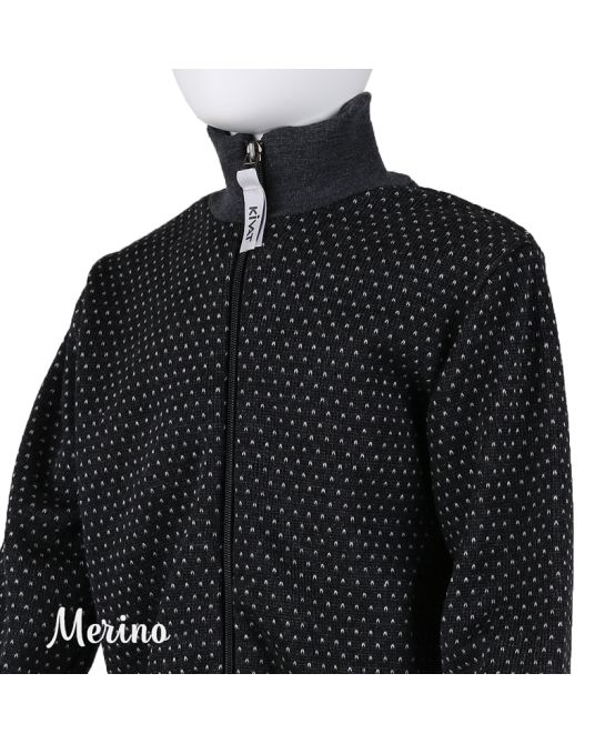 Dotted cardigan - Dark grey