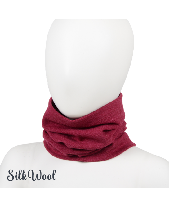 Silk Wool tube scarf