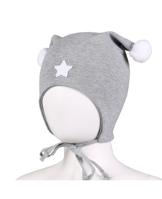 Star baby hat - Grey